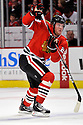 BRYAN BICKELL,  of the Chicago Blackhawks in action  during the Blackhawks game against the Calgary Flames at the United Center in Chicago, IL.  The Chicago Blackhawks beat the Calgary Flames 4-2 in Chicago, Illinois on December 5, 2011....