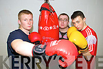 PUT 'EM UP: Members of Tralee boxing club training in Cumann Iosaef on Friday evening l-r: Arthur O'Brien, Brian O'Shea and Cathal Power.   Copyright Kerry's Eye 2008