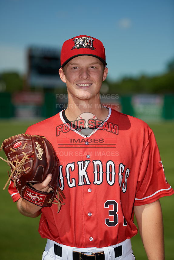 Batavia Muckdogs Dakota Bennett (31) poses for a photo before a NY-Penn League game against the West Virginia Black Bears on June 26, 2019 at Dwyer Stadium in Batavia, New York.  Batavia defeated West Virginia 4-2.  (Mike Janes/Four Seam Images)
