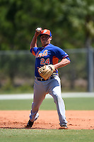 New York Mets Eudor Garcia (24) during practice before a minor league spring training game against the Miami Marlins on March 30, 2015 at the Roger Dean Complex in Jupiter, Florida.  (Mike Janes/Four Seam Images)