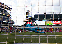 PHILADELPHIA, PA - JUNE 30: Luis Mejia #1 during a game between Panama and Jamaica at Lincoln Financial FIeld on June 30, 2019 in Philadelphia, Pennsylvania.