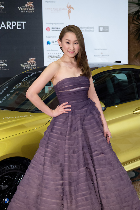 Actress Ivana Wong at the 9th Asian Film awards at the Venetian Macau.25.03.15. 25th March 2015.