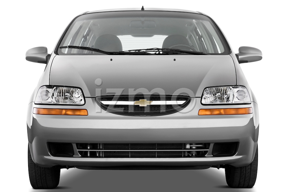 Straight front view of a 2008 Chevrolet Aveo 5 LS