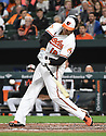 Baltimore Orioles Chris Davis (19) during a game against the Toronto Blue Jays on April 5, 2017 at Oriole Park at Camden Yards in Baltimore, MD. The Orioles beat the Blue Jays 3-1.