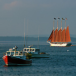 Boats in the harbor, Bar Harbor, Maine, USA