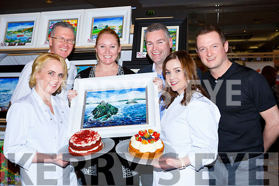 Sinead Fleming, PJ McGee, Theresa O'Grady, Denis Tucker, Claire Dwyer and Derek Daly at the Killarney Rotary club Wine+Art night in the Malton Hotel on Saturday night