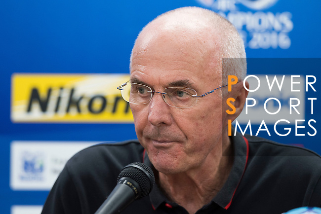 Shanghai SIPG (CHN) coach Sven-Goran Eriksson attends a press conference after their AFC Champions League Quarter Finals match against Jeonbuk Hyundai Motors FC (KOR) at Jeonju World Cup Stadium on 13 September 2016, in Jeonju, South Korea. Photo by Victor Fraile / Power Sport Images