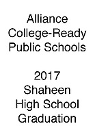 Alliance 2017 Graduation Piera Barbaglia Shaheen Health Services Academy
