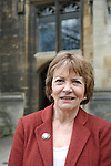 Joan Bakewell, broadcaster, at Christ Church during the FT Weekend Oxford Literary Festival, Oxford, UK. Wednesday 26 March 2014.<br /> <br /> PHOTO COPYRIGHT Graham Harrison<br /> graham@grahamharrison.com<br /> <br /> Moral rights asserted.