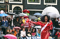 Holland,Amsterdam : Supporters and fans participated of the Gay Parade of the Amstardam 2010 on 7 August 2010.