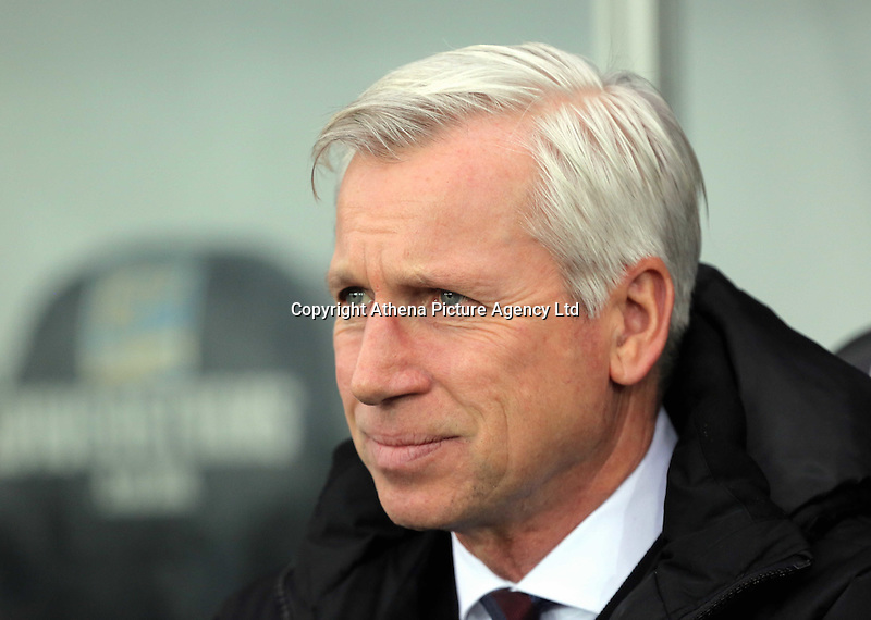 Crystal Palace manager Alan Pardew during the Barclays Premier League match between Swansea City and Crystal Palace at the Liberty Stadium, Swansea on February 06 2016