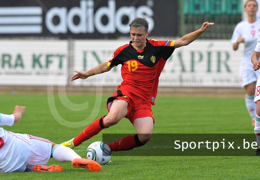 Hungary - Hongarije : UEFA Women's Euro Qualifying group stage (Group 3) - 20/06/2012 - 17:00 - szombathely  - : Hungary ( Hongarije ) - BELGIUM ( Belgie) : Anaelle Wiard.foto DAVID CATRY / JOKE VUYLSTEKE / Vrouwenteam.be