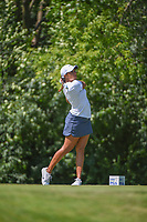 Cheyenne Woods (USA) watches her tee shot on 17 during round 2 of the 2018 KPMG Women's PGA Championship, Kemper Lakes Golf Club, at Kildeer, Illinois, USA. 6/29/2018.<br /> Picture: Golffile | Ken Murray<br /> <br /> All photo usage must carry mandatory copyright credit (&copy; Golffile | Ken Murray)
