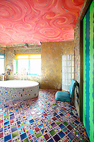 funky colorful floor tiles