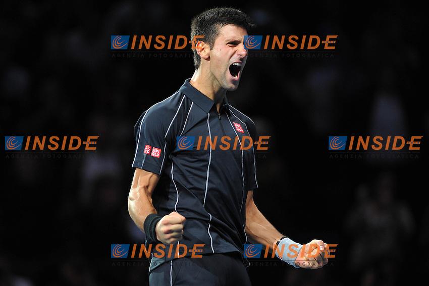 Novak Djokovic (Ser) <br /> Londra 11/11/2013 Tennis Masters ATP <br /> Foto Panoramic / Insidefoto
