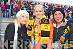 Tracey Kennelly, Liz Kennelly and Nuala Kennelly Dr. Crokes fans at the AIB Senior Club Football Championship Munster Final at Mallow GAA Grounds on Sunday 30th January 2011.