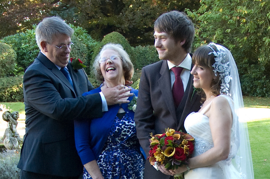 The wedding of Jim and Zhian Westbrook in Mere, Cheshire. October 2010.
