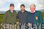 Padraig Harrington enjoyed a round of golf in Waterville on Thursday last pictured here on the 9th green with l-r; Jay Connolly & Hugh Mullins(Captain Waterville GC).