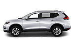 Car driver side profile view of a 2019 Nissan Rogue SV 5 Door SUV