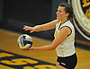 Jillian Graham #15 of Wantagh gets readt to serve during the Nassau County varsity girls volleyball Class A semifinals against Lawrence at Massapequa High School on Monday, Nov. 7, 2016. Wantagh won 3-1.