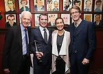 Jack Viertel, Mike Isaacson, Jeanine Tesori and Dick Scanlan attends the The Robert Whitehead Award presented to Mike Isaacson at Sardi's on May 10, 2017 in New York City.