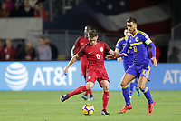 Carson, CA - Sunday January 28, 2018: Wil Trapp, Haris Medunjanin during an international friendly between the men's national teams of the United States (USA) and Bosnia and Herzegovina (BIH) at the StubHub Center.