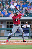 Cedric Hunter (21) of the Lehigh Valley Iron Pigs at bat against the Charlotte Knights at BB&T BallPark on June 3, 2016 in Charlotte, North Carolina.  The Iron Pigs defeated the Knights 6-4.  (Brian Westerholt/Four Seam Images)