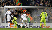 Imoh Ezekiel of R.S.C Anderlecht scores a goal to make it 1-1 during the UEFA Europa League Group J match between Tottenham Hotspur and R.S.C. Anderlecht at White Hart Lane, London, England on 5 November 2015. Photo by Andy Rowland.