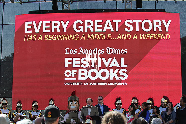 at the Los Angeles Times Festival of Books held at USC in Los Angeles, California on Saturday, April 22, 2017