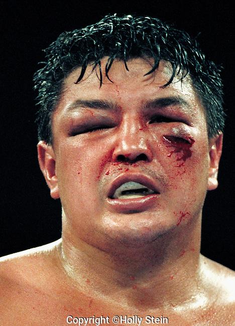 Joe Hipp v. Bruce Seldon.  Hipp L TKO10. WBA World Heavyweight title.