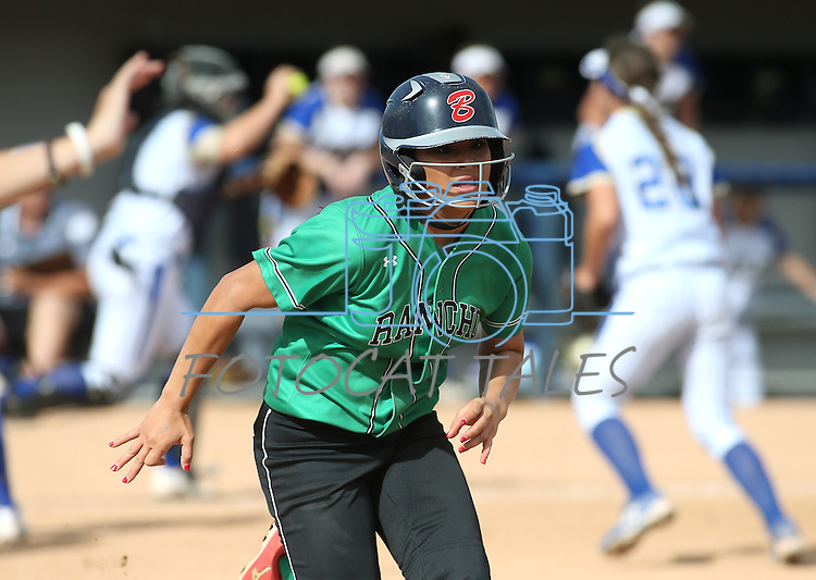 Rancho's Tiare Lee runs against Reed during NIAA DI softball action at the University of Nevada, in Reno, Nev., on Thursday, May 19, 2016. Reed 2-0. Cathleen Allison/Las Vegas Review-Journal