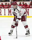 Sean Malone (Harvard - 17) - The Harvard University Crimson defeated the visiting Cornell University Big Red on Saturday, November 5, 2016, at the Bright-Landry Hockey Center in Boston, Massachusetts.
