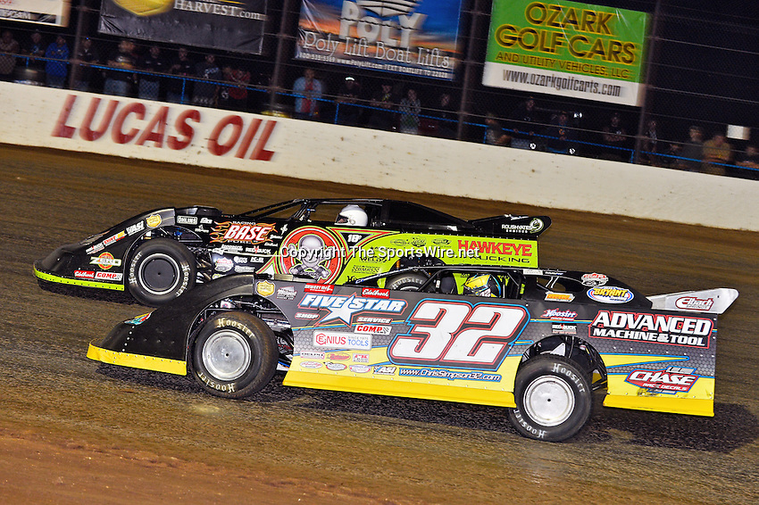 May 25, 2013; 11:01:21 PM; Wheatland, Mo., USA; The  Lucas Oil Late Model Dirt Series running the 21st Annual Lucas Oil Show-Me 100 Presented by ProtectTheHarvest.com.  Mandatory Credit: (thesportswire.net)