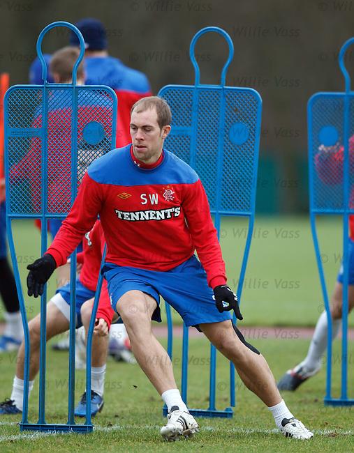 Steven Whittaker at training