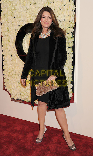 Lisa Vanderpump.The QVC Red Carpet Style Event held at The Four Seasons at Los Angeles in Los Angeles, California, USA..February 23rd, 2012.full length dress black clutch bag beige .CAP/ROT/TM.©Tony Michaels/Roth Stock/Capital Pictures