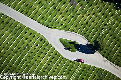 aerial photograph National Cemetery San Francisco Presidio California