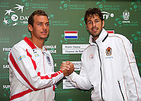 11-sept.-2013,Netherlands, Groningen,  Martini Plaza, Tennis, DavisCup Netherlands-Austria, Draw,  Andreas Haider-Maurer (AUT) plays Robin Haase (NED)<br /> Photo: Henk Koster