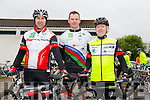 Barry O'Connor, Padraig O'Donnell and Pat O'Connell at the St Kieran's GAA Cycle Tour on Sunday starting in the  Desmonds GAA Grounds