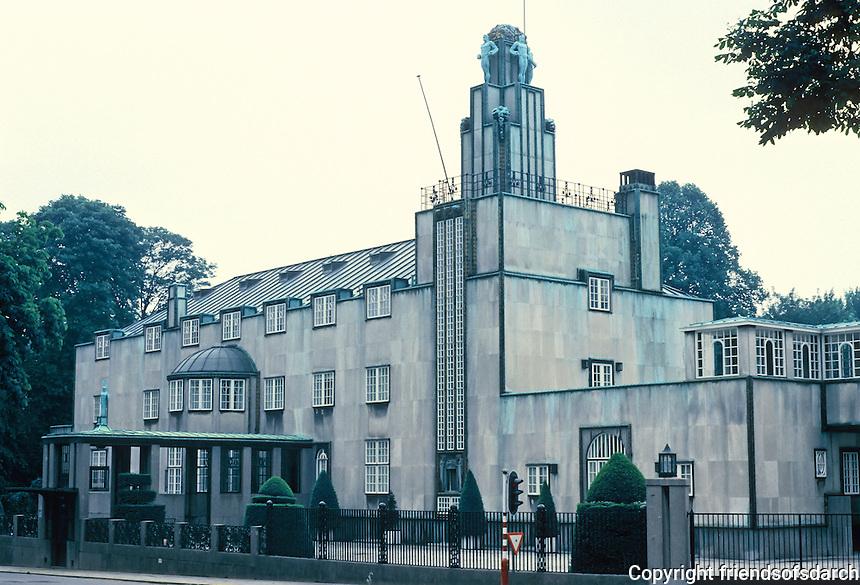 Josef Hoffman: Palais Stoclet, Brussels, 1908-1911. 279 Avenue de Tervueren, Woluwe-Saint-Pierre. Art Deco. Photo '87.