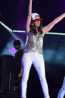 11 June 2017 - Nashville, Tennessee - Karen Fairchild, Little Big Town. 2017 CMA Music Festival Nightly Concert held at Nissan Stadium. Photo Credit: Dara-Michelle Farr/AdMedia