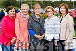 Peggy O'Halloran (Abbeydorney) Eileen Enright (Derrymore) Ann Nolan (Ardfert) with Christine Murnane (Ballyheigue) and Margaret Zemach (Florida and Ballyheigue).