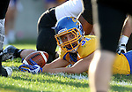 BROOKINGS, SD - SEPTEMBER 20:  Zach Zenner #31 from South Dakota State looks to the official for the touchdown signal against Wisconsin-Oshkosh in the first half of their game Saturday at Coughlin Alumni Stadium in Brookings. (Photo/Dave Eggen/Inertia)