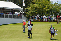 Phil Mickelson (USA) and HaoTong Li (CHN) make their way down 13 during round 2 of the WGC FedEx St. Jude Invitational, TPC Southwind, Memphis, Tennessee, USA. 7/26/2019.<br /> Picture Ken Murray / Golffile.ie<br /> <br /> All photo usage must carry mandatory copyright credit (© Golffile | Ken Murray)