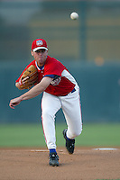 Ryan Ketchner of the Inland Empire 66ers pitches during a game at Stater Bros Stadium on June 3, 2003 in San Bernardino, California. (Larry Goren/Four Seam Images)