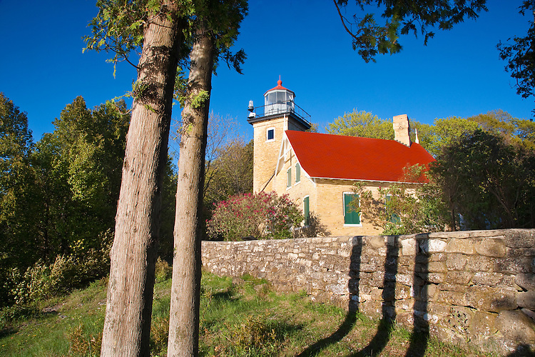 Evening light on Eagle Bluff Lighthouse in Peninsula State Park; Door County, WI