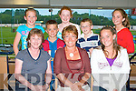 NIGHT AT THE DOGS: Enjoying a great time at the Night at the Dogs at Kingdom Greyhound Stadium on Friday seated l-r: Celia Ryan O'Doherty and Elaine and Sine?ad Rouine, Abbeydorney. Back l-r: Aisling and Sea?n Rouine, Si?ghle and Michea?l O'Doherty and A?ine Rouine.