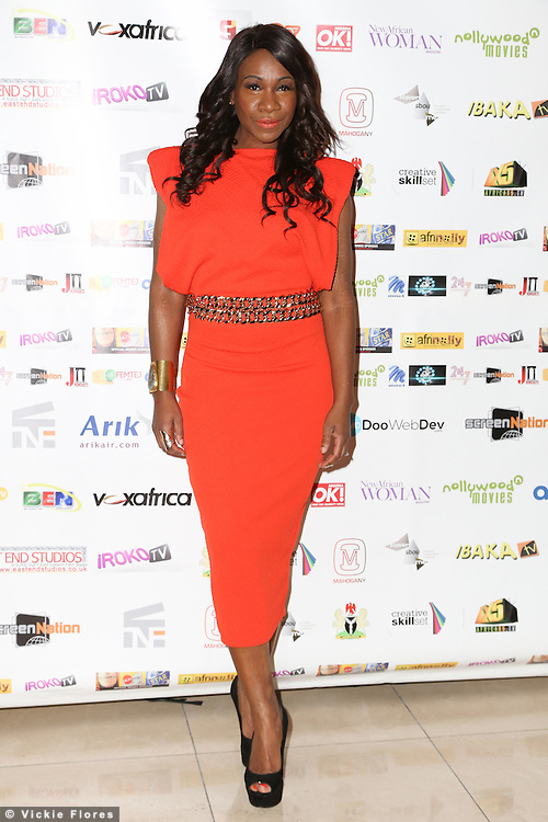 Karen Bryson, Screen Nation Film & Television Awards, Park Plaza Riverbank Hotel, London UK, 23 February 2014, Photo by Vickie Flores.