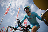 2014 Tour-winner Vincenzo Nibali (ITA/Astana) is the last rider to kick off his 2015 campaign<br /> <br /> stage 1 prologue: Utrecht (13.8km)<br /> Tour de France 2015