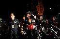 (R-L) Takashi Uchiyama (JPN),  Hitoshi Watanabe, DECEMBER 31, 2011 - Boxing : Takashi Uchiyama of Japan enters the ring before the WBA super featherweight title bout at Yokohama Cultural Gymnasium in Kanagawa, Japan. (Photo by Hiroaki Yamaguchi/AFLO)