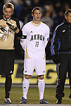 11 December 2009: Akron's Ben Zemanski. The University of Akron Zips defeated the University of North Carolina Tar Heels 5-4 on penalty kicks after the game ended in a 0-0 overtime tie at WakeMed Soccer Stadium in Cary, North Carolina in an NCAA Division I Men's College Cup Semifinal game.